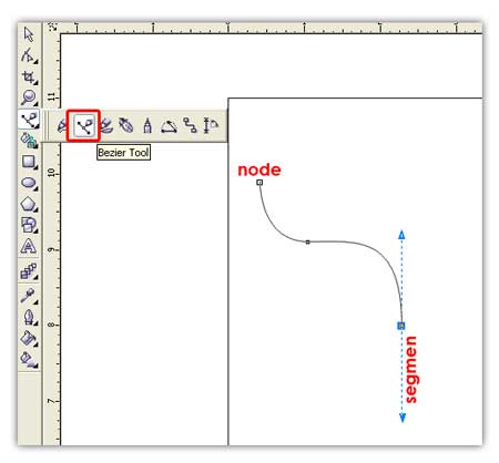 how to use bezier tool in coreldraw