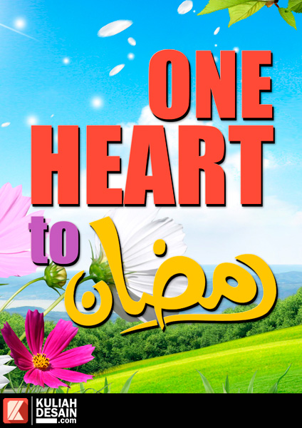 Poster One Heart RamadhanPoster One Heart Ramadhan