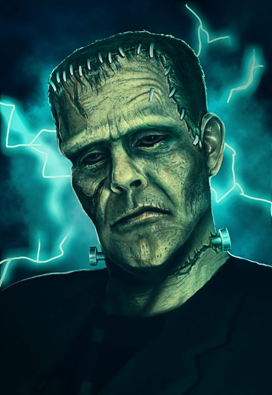 Tutorial manipulasi Photoshop Monster Frankenstein