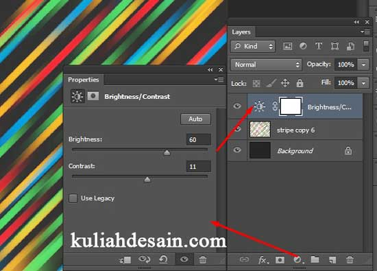 Cara Membuat Background Abstrak Stripe line di Photoshop