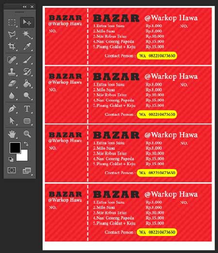 Cara Membuat Kupon Bazar di Photoshop